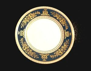 Beautiful Wedgwood Columbia Blue And Gold Bread Plate