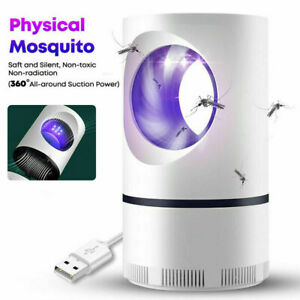 Electric Mosquito And Flies Killer Trap Suction Fan Zapper Child Safe Lamp HOT
