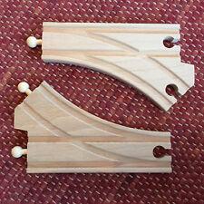 BRIO 33346 Bogenweichen (L & M) Weiche - TOP - wie NEU - Curved Switching Tracks
