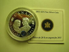 2011 Proof $20 Royal Wedding Prince William Will Catherine Kate COIN&COA ONLY