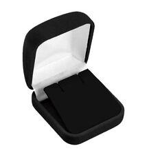 """6 PCS CLASSIC VELOUR LARGE EARRING/PENDANT BOX, BLACK 2"""" X 2 1/4"""" X 1 3/8"""""""