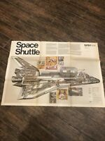 Rare VIntage NASA Poster SPACE SHUTTLE NF-81 1978 SIGNED By Barron Storey Artist