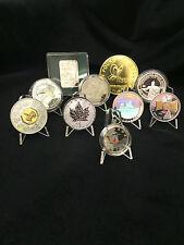 Acrylique clair médaille monnaie & présentoirs ensemble de 10 nouveaux