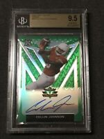 Collin Johnson 9/75 (Jersey#) 2020 Leaf Valiant BGS 9.5 Gem Mint Base XRC On-Car