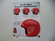 advertising Pubblicità 1982 CASCO HELMET NAVA GO JET