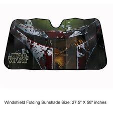 New Star Wars Boba Fett Car Truck Front Windshield Accordion Folding Sun Shade