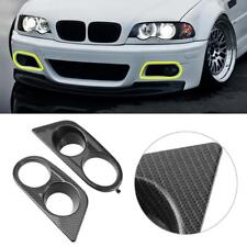 1x Carbon Fiber Ham Style Front Bumper Fog Light Covers for BMW E46 M3 02-05
