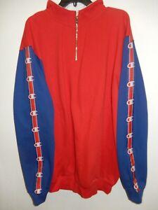 "1605-16 Mens Apparel Authentic CHAMPION ""1/4 Zip"" Pullover Lite SWEATSHIRT New"
