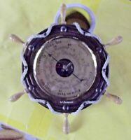 Ancien baromètre barre à roue Nautique marin vintage bateau temps  beau pluie