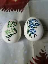 Egg-shaped Salt And Pepper Shakers Hand-painted Holland