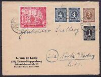 Alliierte Besetzung Mi Nr. 965, 911, 913, 914 MiF Brief Essen - Nörde 1947