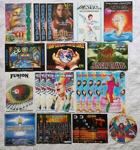 Rave Flyer Job Lot Bundle Of 92 Flyers, 1992, 1993, 1994, Fantazia, Dreamscape