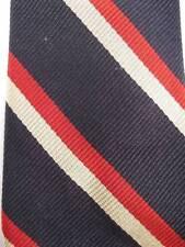 Retro Necktie Red Beige & Black Striped Authentic Regimentals All Silk  Tie (O)