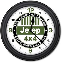 Jeep Wall Clock - Man Cave Garage Car Truck Auto Body Work Shop - GREAT GIFT