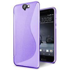 Handy Hülle für HTC One A9s Silikon Case Slim Cover Schutz Hülle Tasche Lila