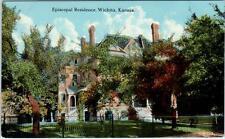 WICHITA, Kansas  KS    EPISCOPAL RESIDENCE   ca 1910s   Postcard