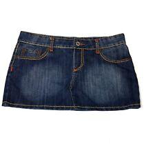 Wet Seal Womens Juniors Mini Skirt Size 11 Front Back Pockets Orange Thread