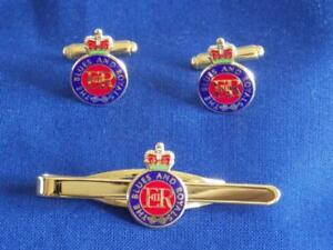 BLUES AND ROYALS CUFF LINK AND TIE GRIP / CLIP SET