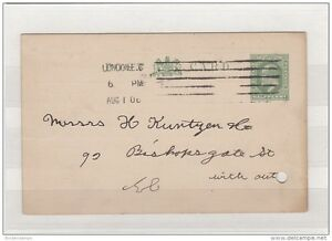 GB 1906 EDVII Postcard with London EC Columbia Single Impression Cancel DB1305