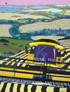 Cindy Wider Acrylic on canvas Australian painting  'Harvest - On the Home run'.