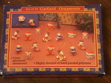 Set of 18 Miniature Garfield Christmas Ornaments New
