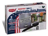 U.S. Automatic 020320 Sentry 300 S Single Swing Gate Opener Kit Solar US Made!