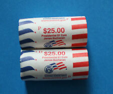 U.S. - 2010 UNC P&D Presidential Dollar 2 roll set - James Buchanon