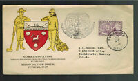 1947 Newfoundland cover to usa 450th Anniversay Discovery of Newfoundland