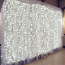 Connectable 3x3m LED White Light Curtain String Fairy Lights Wedding Wall Decor