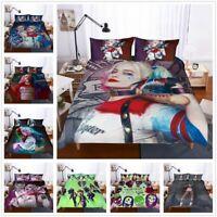 3D Suicide Squad Harley Quinn Duvet Cover Set Pillowcase Comforter/Quilt Cover