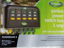 BLAGDON POWERSAFE 5-WAY SWITCH BOX PS5 GARDEN OUTLET SAFE POND PLUG FISH KOI