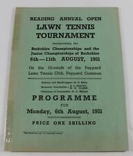 1951 Reading Annual Open Lawn Tennis Tournament Program (Peppard Common)