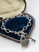 WHITE ICE Sterling Silver & Diamonds TBAR Bracelet 22.15gr