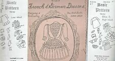 Antique Low&High Waist Doll Basic Dress Variations Technique How To&Pattern Book