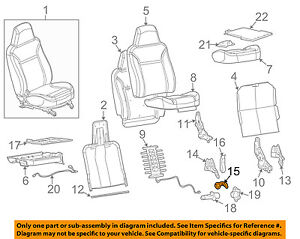 GM OEM Front Seat-Recline Handle Lever Right 89041700