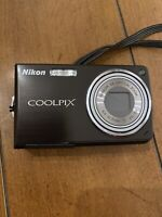 Nikon Coolpix S550 Black Digital Camera W/ Charger Tested Works GREAT! Fast Ship