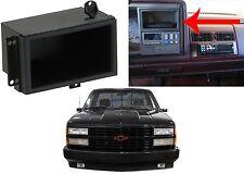 Plastic Radio Delete Dash Cubby For 1988-1994 Chevy GMC C/K Trucks New Free Ship