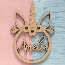 Unicorn Gift Bauble Tag Personalised Wooden Name Dream Catcher Christmas Gifts