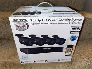 Night Owl 8-Channel 1080p 1TB DVR Security Surveillance System w 4-Wired Cameras