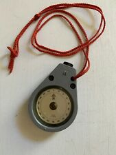 Vintage Wilkie of West Germany Nautical Gray Plastic Compass with Red Strap