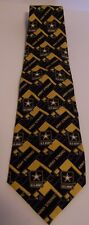 US Army Tie Army Strong Star Logo Military Blue Gold 100% Silk Larson