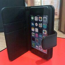 Real De Cuero Billetera Estuche original de clase empresarial mano hecha a mano iphone 5 C Negro