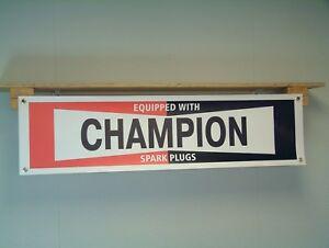 CHAMPION Spark Plugs banner Car Workshop Garage Retro Style Advertising pvc sign
