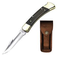 Buck Folding Hunter 110 classique couteau de poche avec sac de ceinture Biker couteau