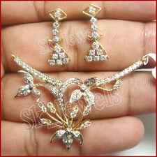 2.13CT NATURAL DIAMOND 14K YELLOW  GOLD WEDDING ANNIVERSARY MANGALSUTRA SET
