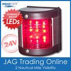 24V 9-LED PORT LIGHT - Red Navigation/Nav Side Vertical Mount- Boat/Yacht/Marine
