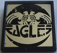 "THE EAGLES Vintage Square Mirrored Plastic Pin Badge (1.75""-44mm)#TE104"