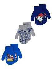 Nickelodeon Paw Patrol 3 Pack Mittens Size 2T-4T Chase Marshall Toddlers Gloves