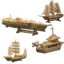 Holzbausatz zum selber Bauen und Gestalten Schiffe Bausatz aus Holz
