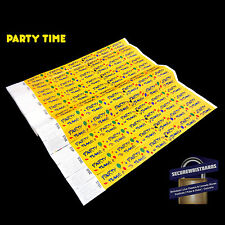 1000 x Tyvek Party, Event Wristbands Party Time